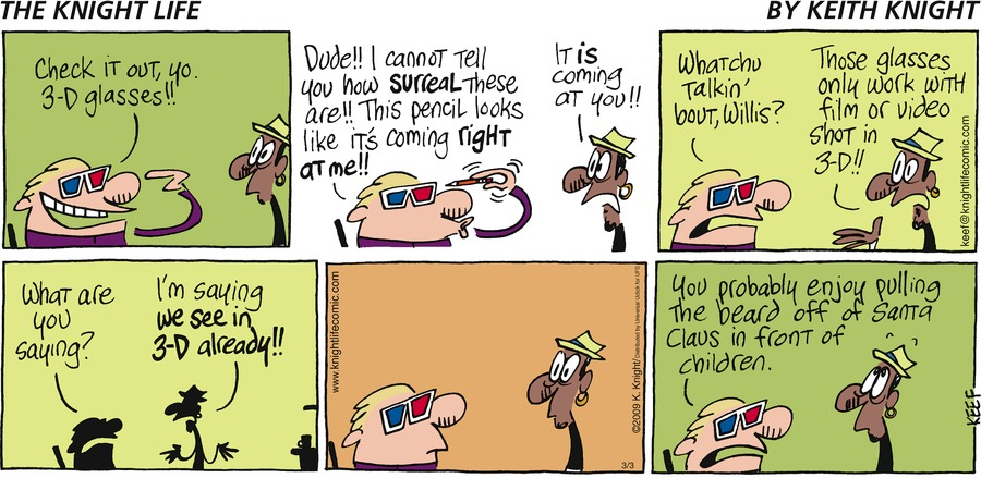 The Knight Life Comic Strip for March 03, 2013