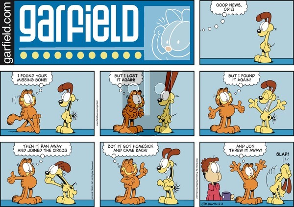 Garfield on Sunday December 2, 2018 Comic Strip