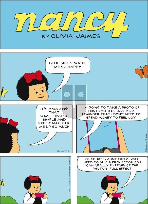 Nancy on Sunday May 19, 2019 Comic Strip