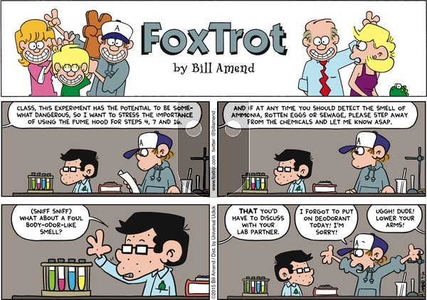 FoxTrot on Sunday September 20, 2015 Comic Strip