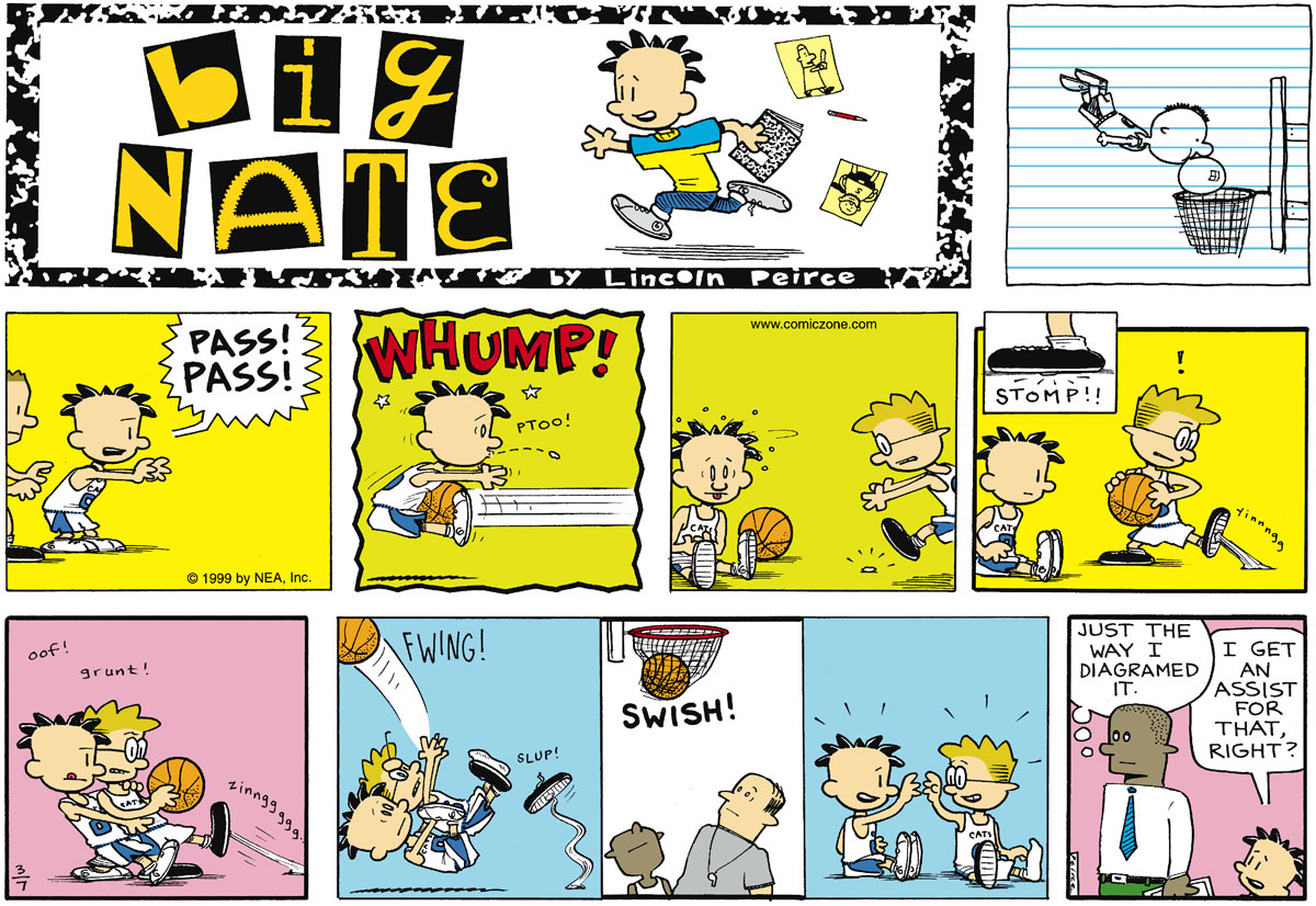 Big Nate Comic Strip for March 07, 1999