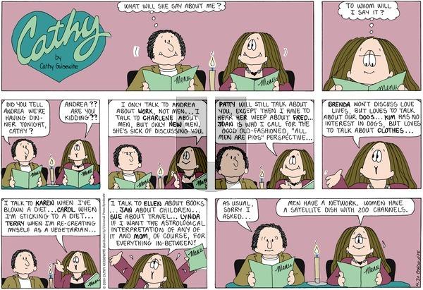 Cathy on Sunday April 30, 2000 Comic Strip