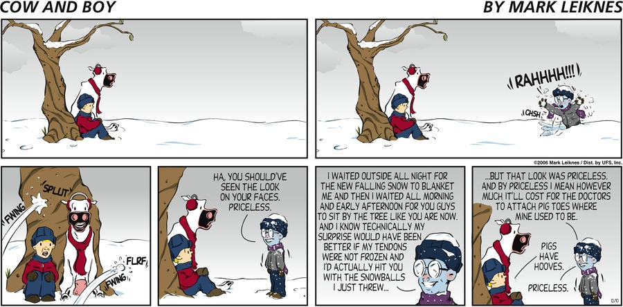Cow and Boy Classics Comic Strip for December 04, 2020