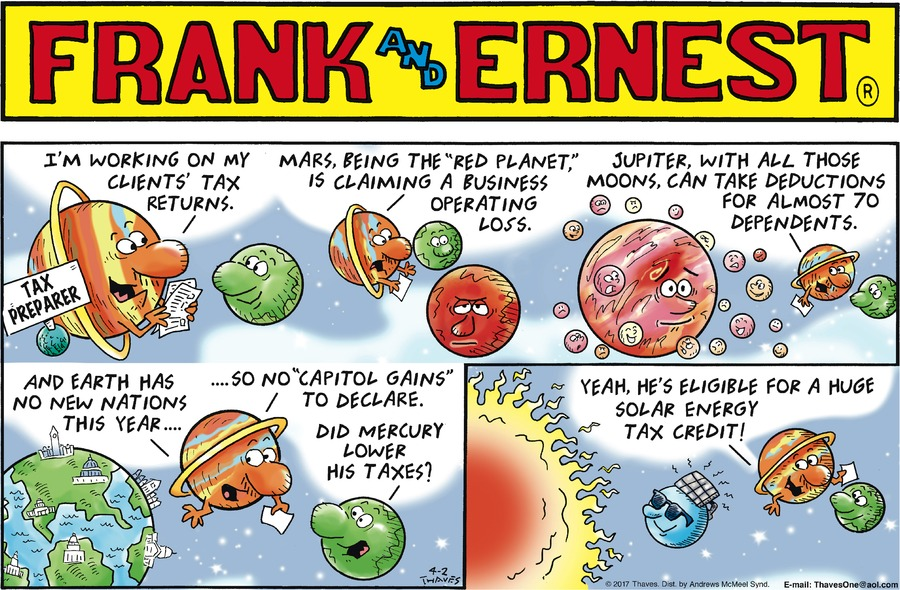 Frank and Ernest Comic Strip for April 02, 2017
