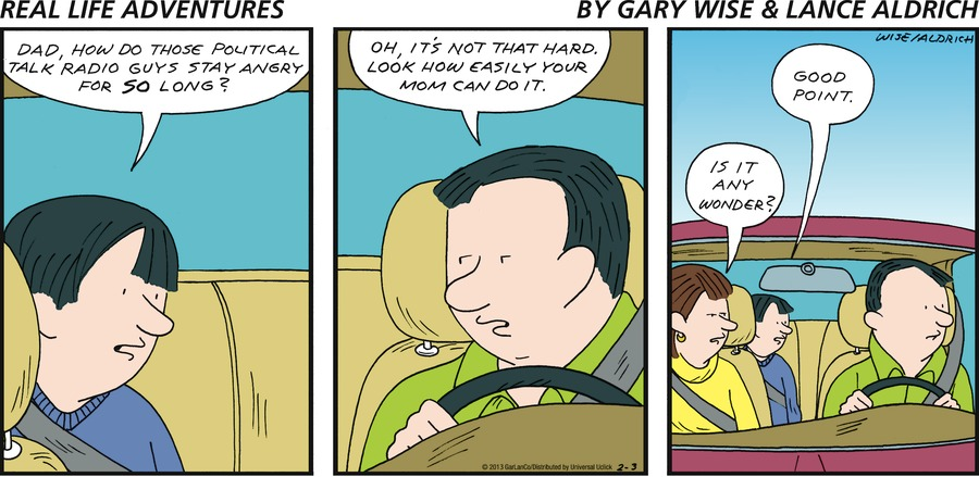 Real Life Adventures for Feb 3, 2013 Comic Strip