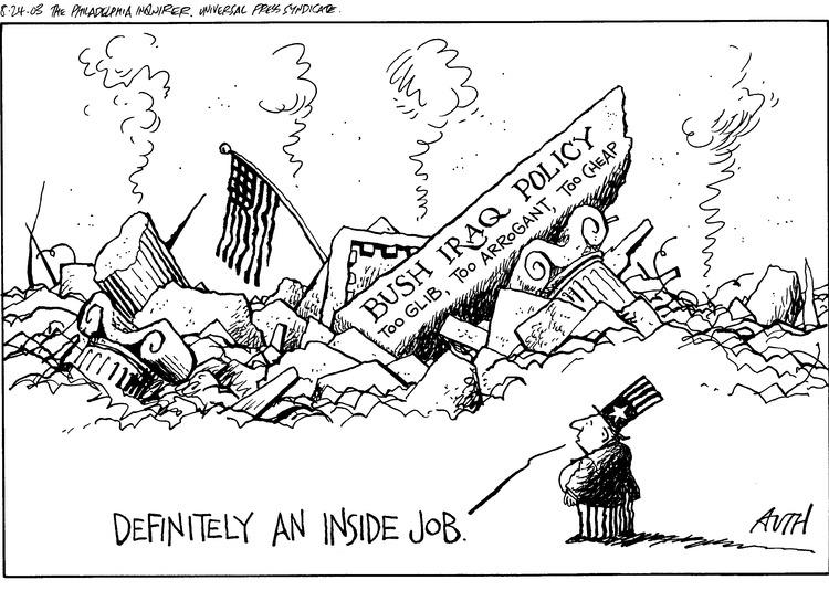 Uncle Sam: Definitely an inside job.