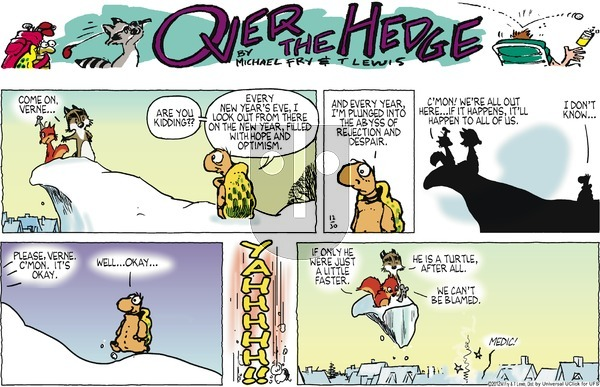 Over the Hedge on Sunday December 30, 2012 Comic Strip