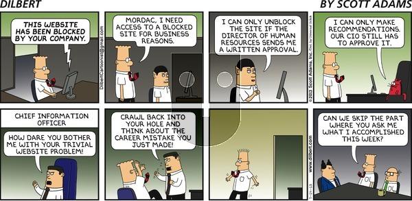 Dilbert on Sunday July 14, 2013 Comic Strip
