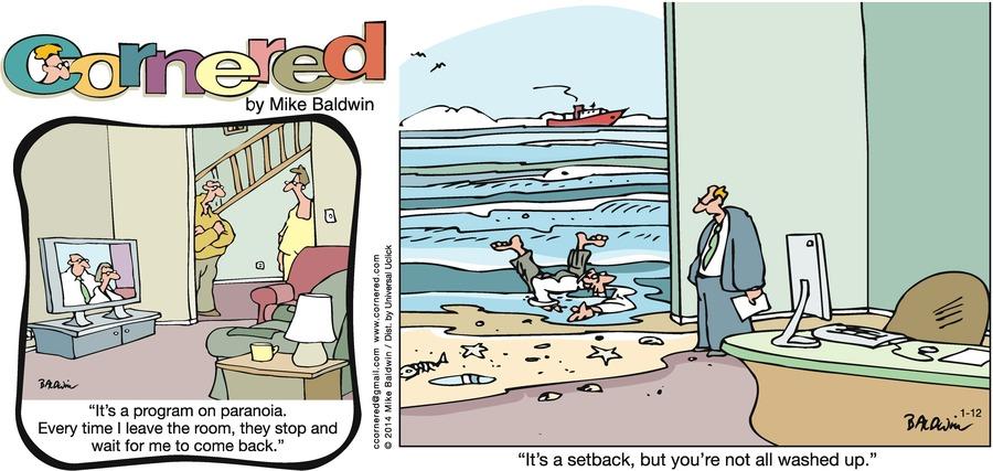 Cornered for Jan 12, 2014 Comic Strip