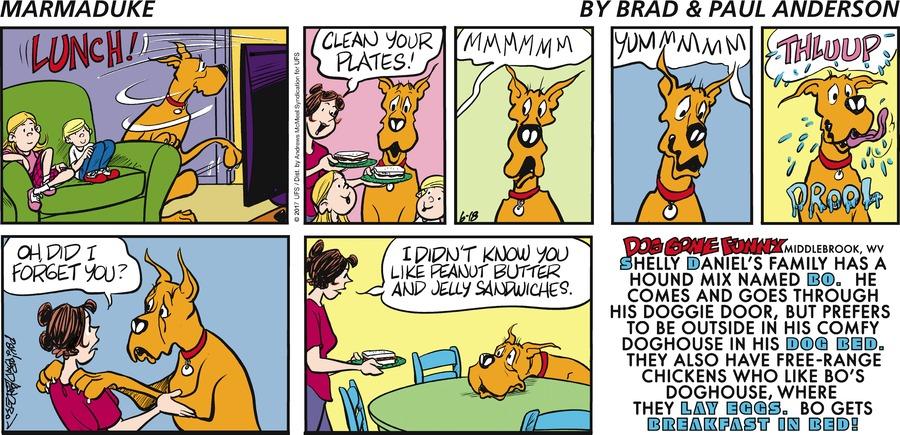 Marmaduke for Jun 18, 2017 Comic Strip
