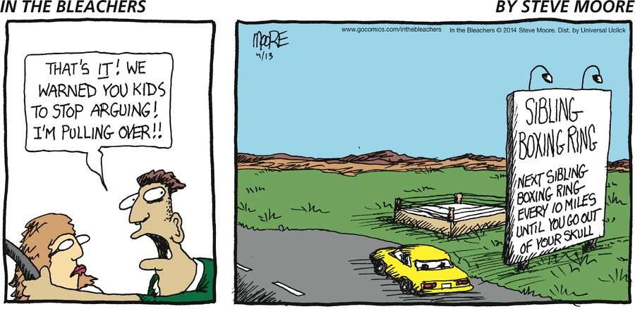 In the Bleachers for Apr 13, 2014 Comic Strip