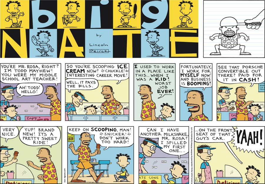 Big Nate Comic Strip for July 21, 2019