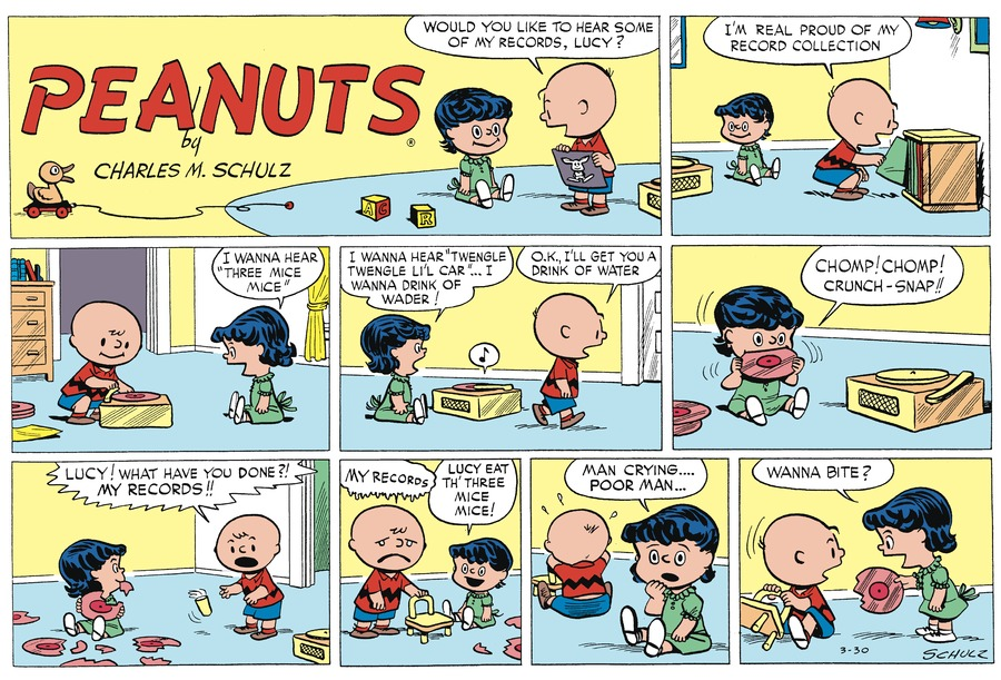 Peanuts Begins Comic Strip for March 29, 2020