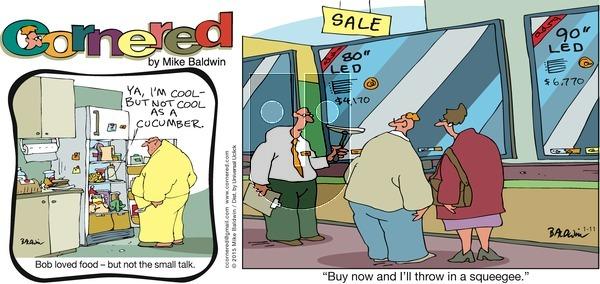 Cornered on Sunday January 11, 2015 Comic Strip