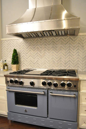 A cooktop is an option for those who don't want to install a freestanding professional-grade range.