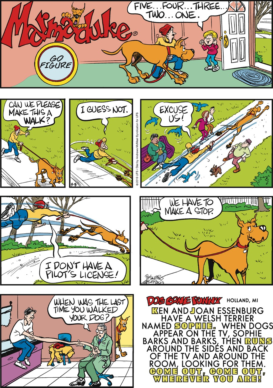 Marmaduke Comic Strip for March 03, 2019