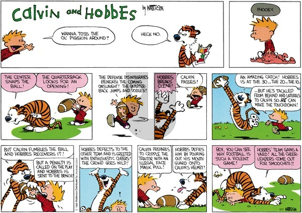 Calvin and Hobbes - Sunday August 21, 2016 Comic Strip