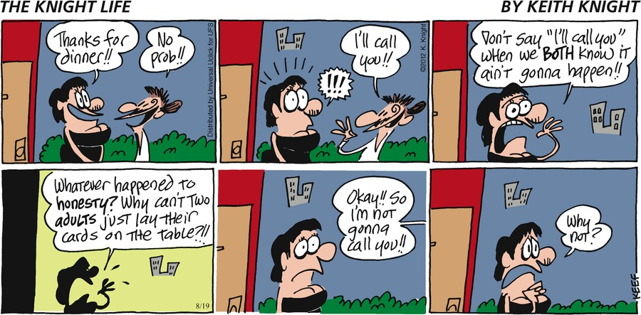 The Knight Life Comic Strip for August 19, 2012