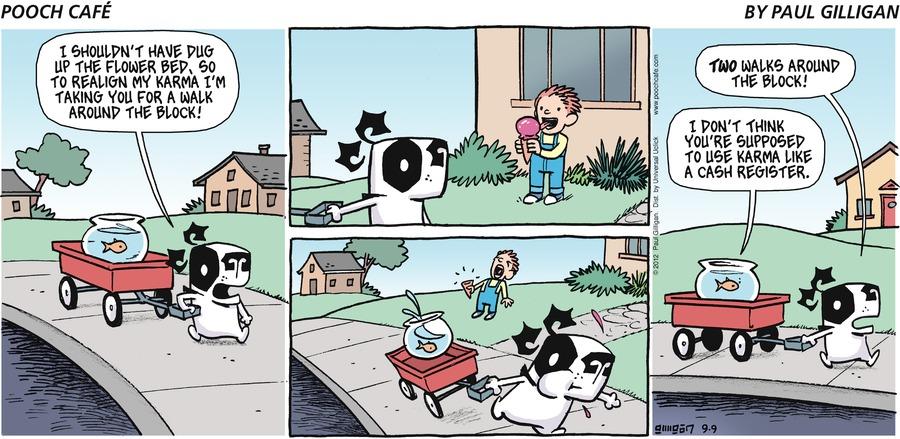 Pooch Cafe Comic Strip for September 09, 2012