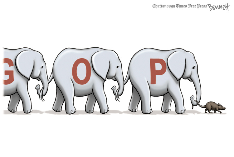 Clay Bennett for August 24, 2018 Comic Strip