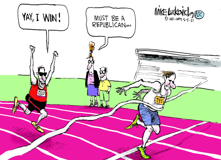 Mike Luckovich by Mike Luckovich on Sun, 09 May 2021