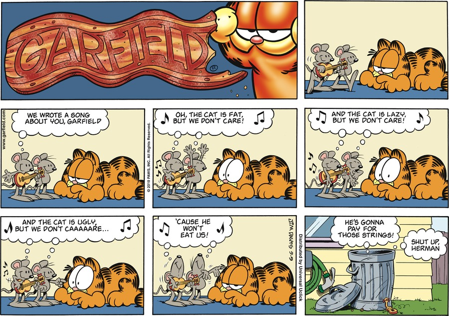 Garfield Comic Strip for May 09, 2010