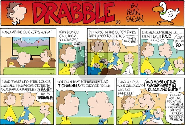 Drabble on Sunday July 3, 2016 Comic Strip