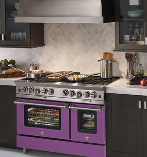 Radiant Orchid is Pantone's color for 2014, and BlueStar is set to satisfy people's purple penchant with range options that turn up the heat and interest in the kitchen's hot spot.