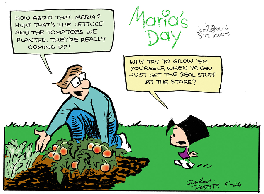 Maria's Day for May 26, 2013 Comic Strip