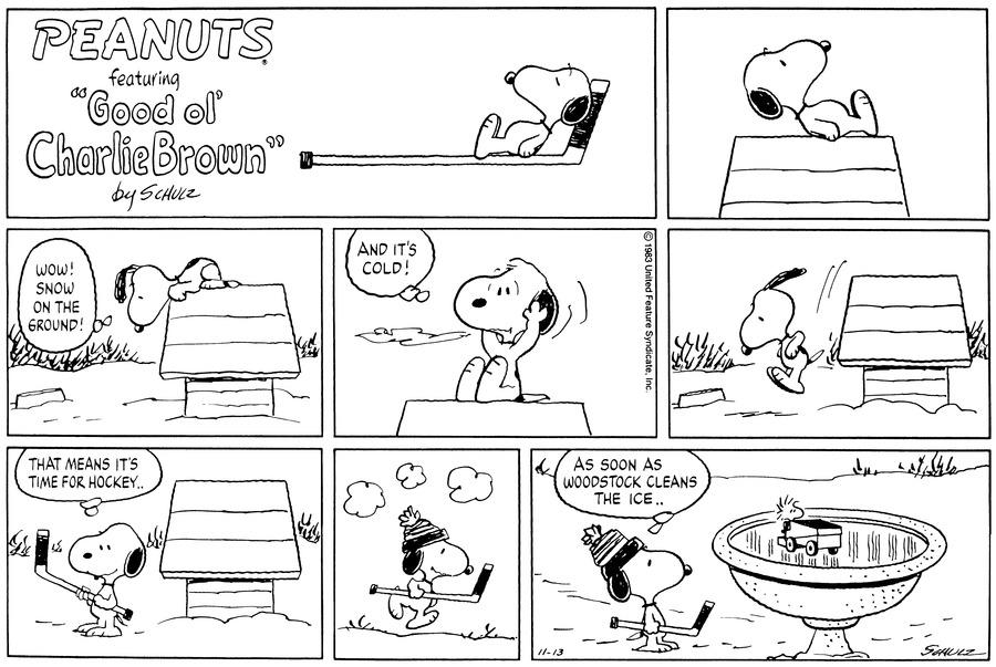 Peanuts Comic Strip for November 13, 1983