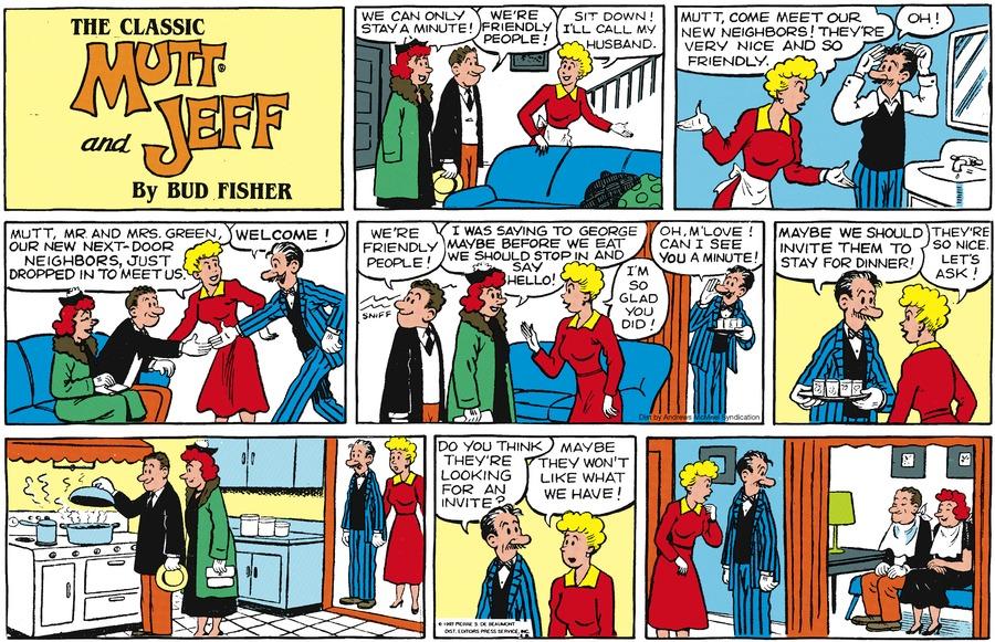 Mutt & Jeff Comic Strip for August 02, 2020