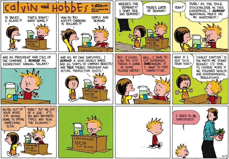 Calvin and Hobbes Comic Strip for April 07, 2013