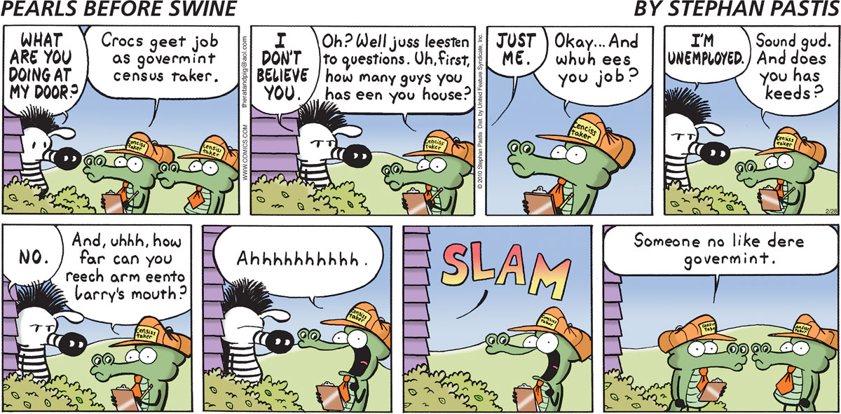 Pearls Before Swine Comic Strip for February 28, 2010