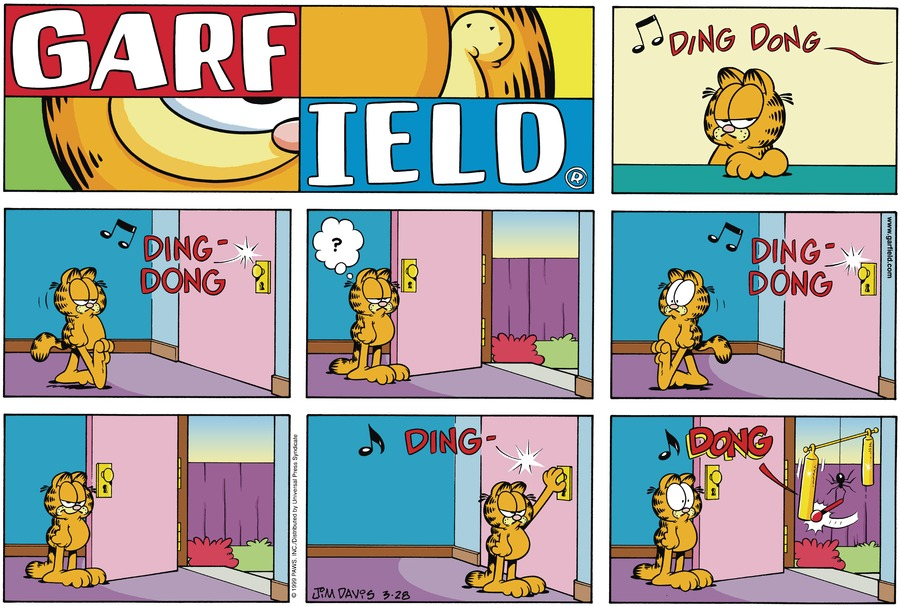 Garfield Comic Strip for March 28, 1999