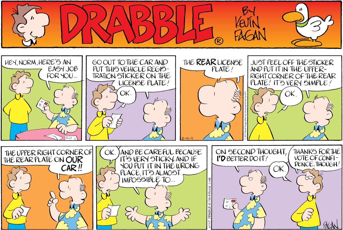 Drabble Comic Strip for August 14, 2011