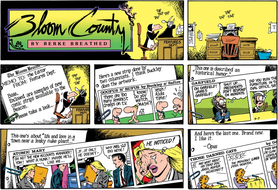 Bloom County by Berkeley Breathed for May 11, 2019