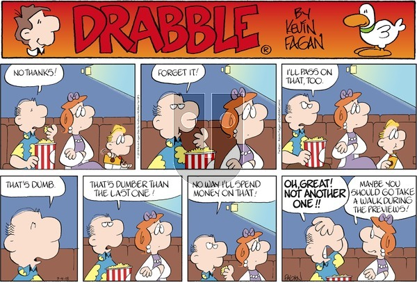 Drabble on Sunday March 4, 2018 Comic Strip