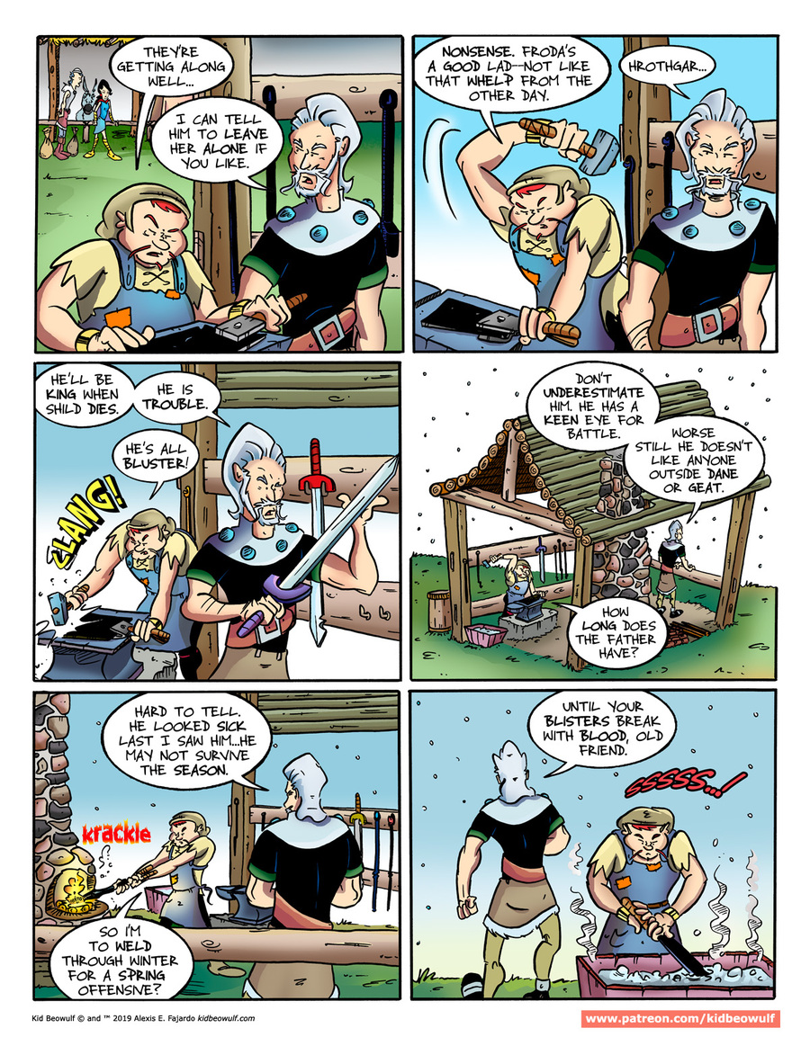Kid Beowulf Comic Strip for January 28, 2019