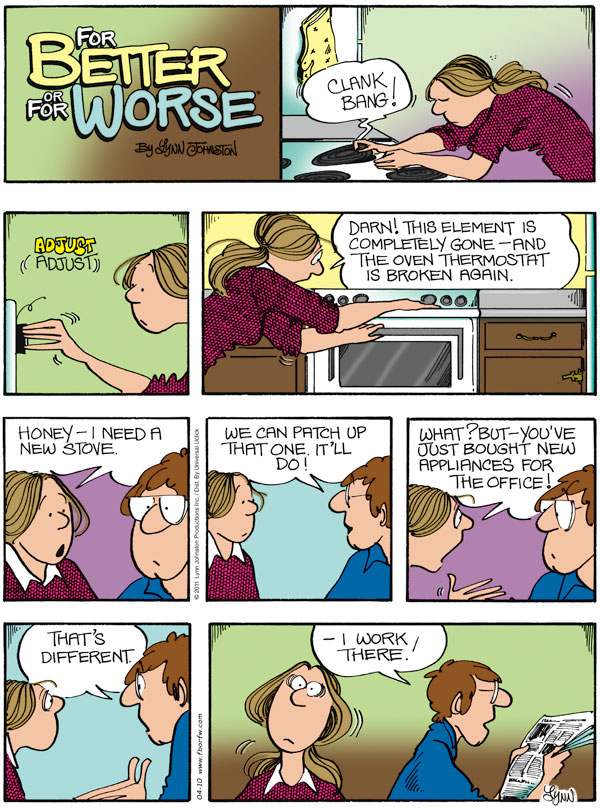For Better or For Worse for Apr 10, 2011 Comic Strip