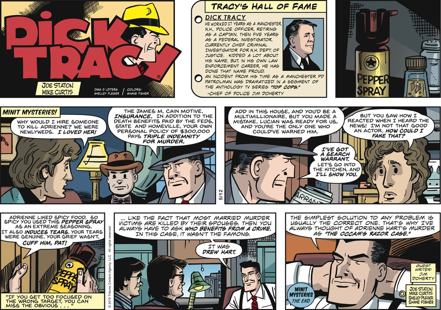 Dick Tracy by Joe Staton and Mike Curtis for May 12, 2019