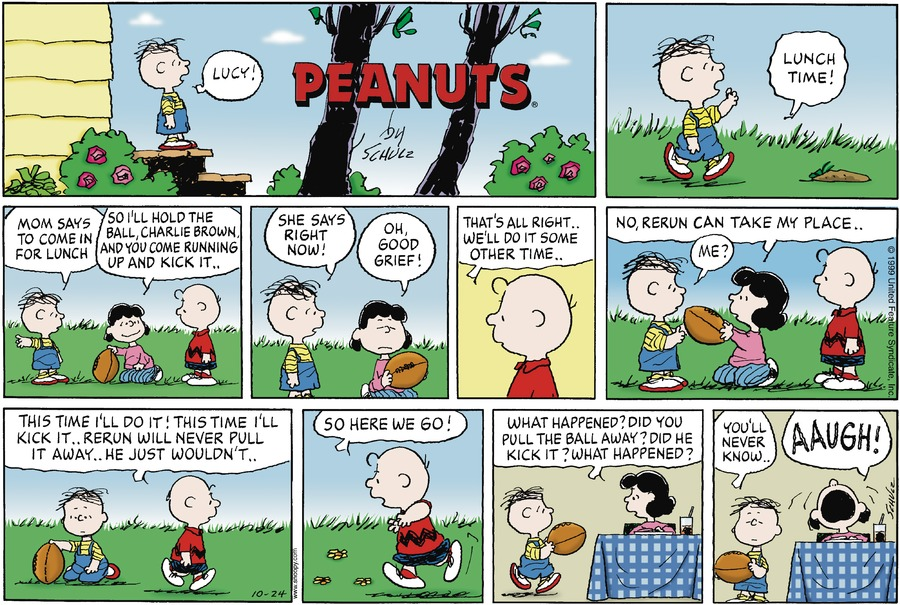 Peanuts for Oct 24, 1999 Comic Strip