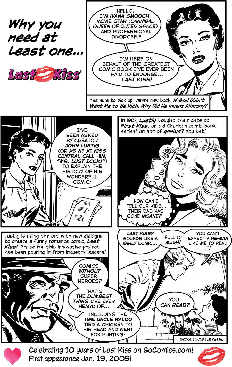 Last Kiss by John Lustig for January 18, 2019