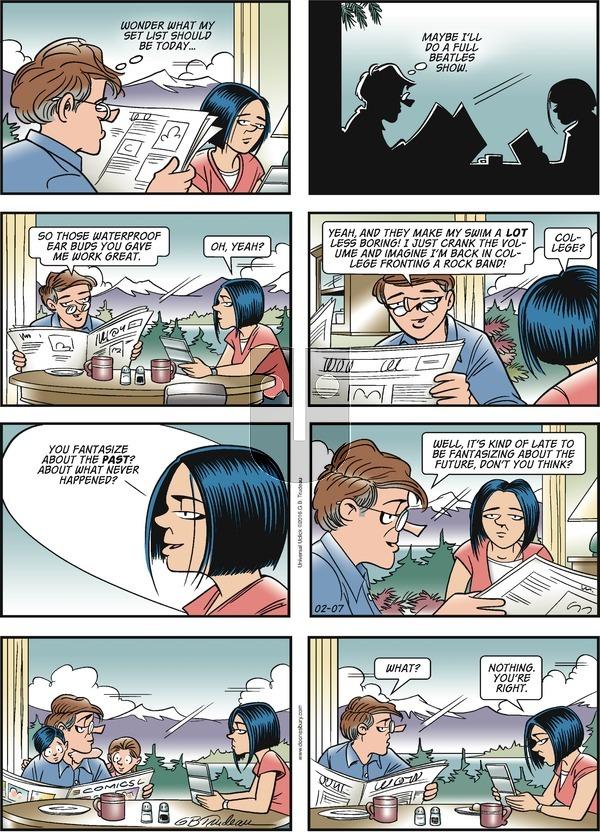 Doonesbury on Sunday February 7, 2016 Comic Strip