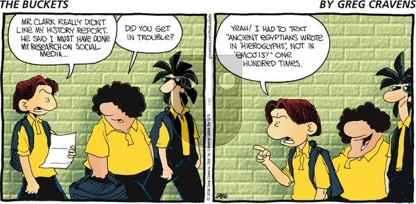 The Buckets on Sunday October 2, 2016 Comic Strip