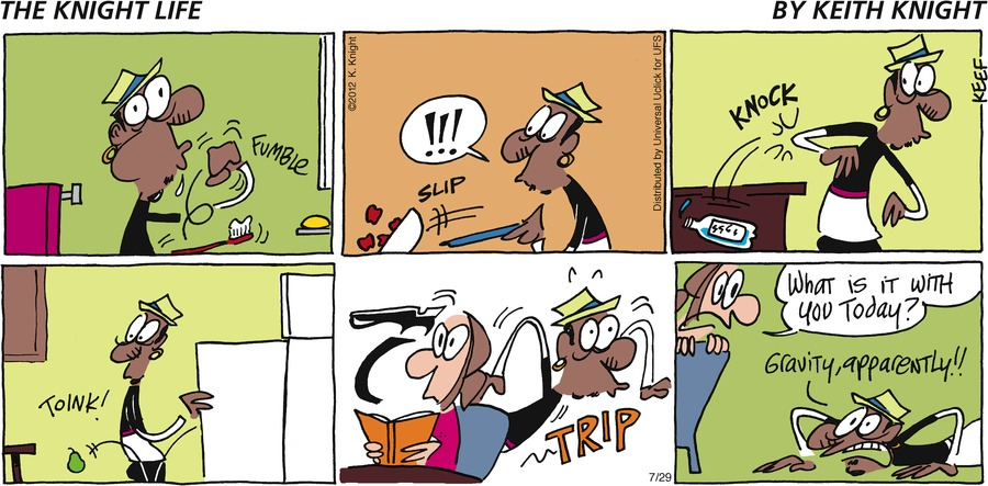 The Knight Life Comic Strip for July 29, 2012