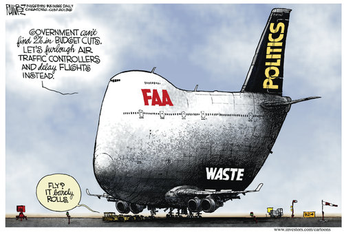 FAA lays of the workers but keeps the bureaucrats in place