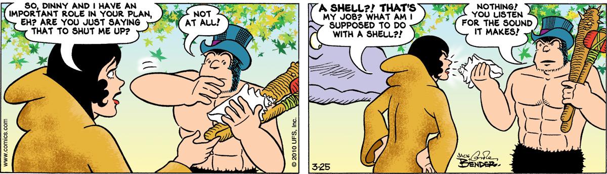 Alley Oop for Mar 25, 2010 Comic Strip