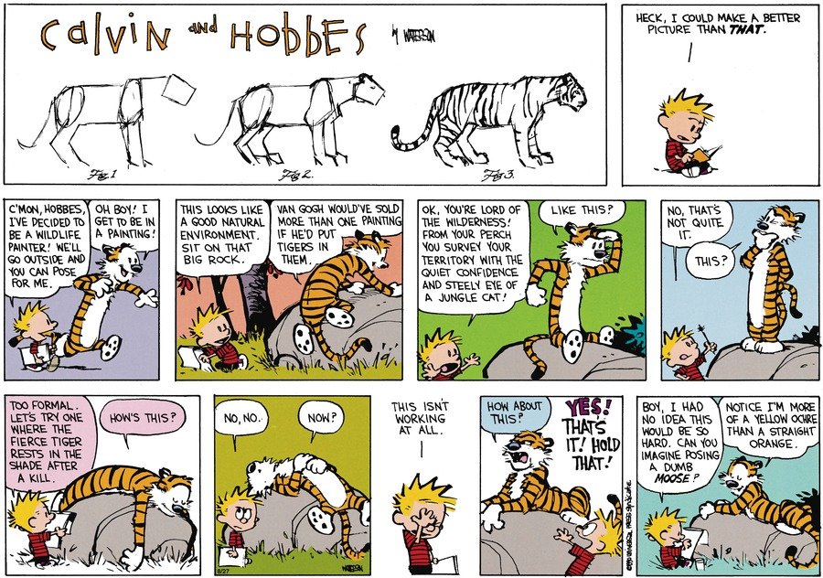 Calvin and Hobbes Comic Strip for October 14, 1990