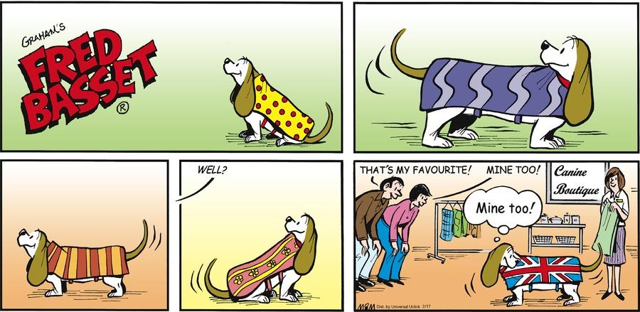 Fred Basset for Feb 17, 2013 Comic Strip