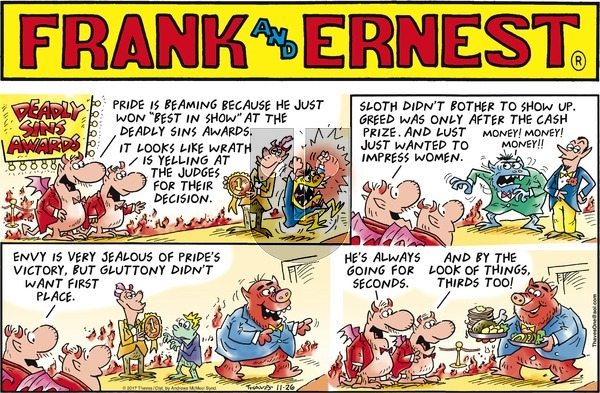Frank and Ernest on Sunday November 26, 2017 Comic Strip